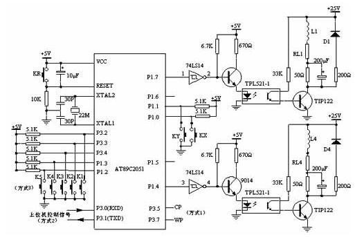 AT89C2051单片机对步进电机驱动器系统的设计