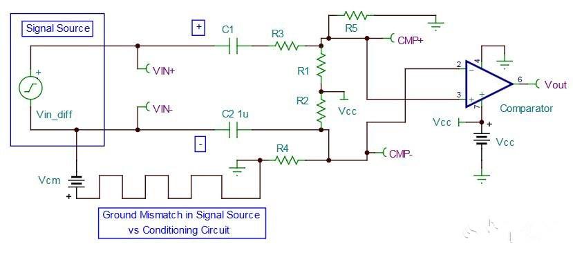 TLV3501比�^器�路�O�:交流耦合�坞�源比�^器