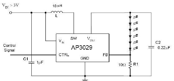 基于AP3029��Q器的WLED背光��与�源�O�