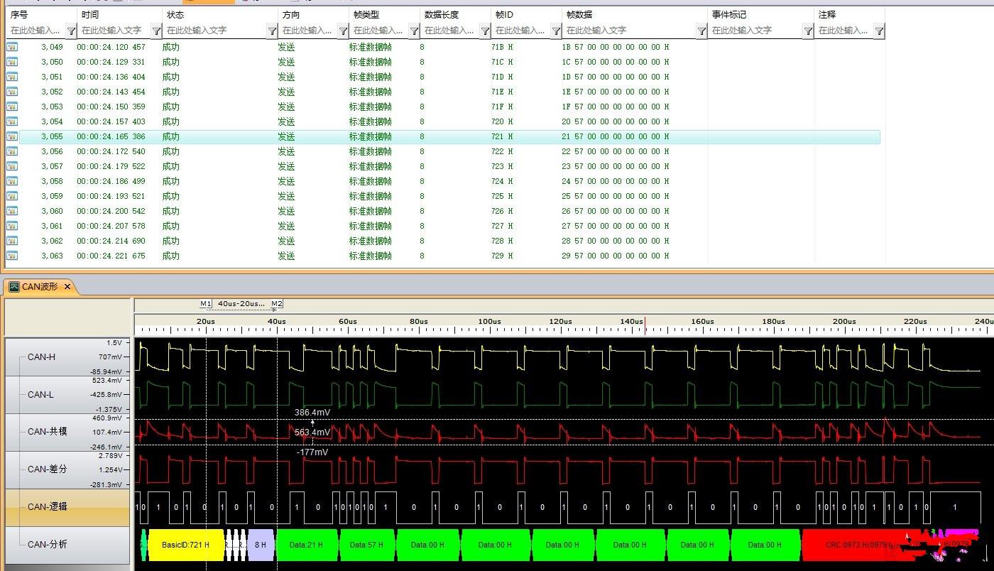 基于CAN��信�的波形解�a和�笪慕獯a不一致的情�r分析