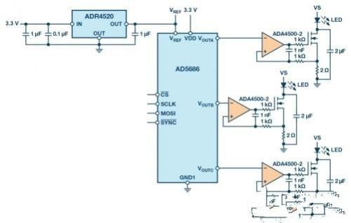 基于DAC�程用于精�_照明控制��用的多通道LED��悠髟O�