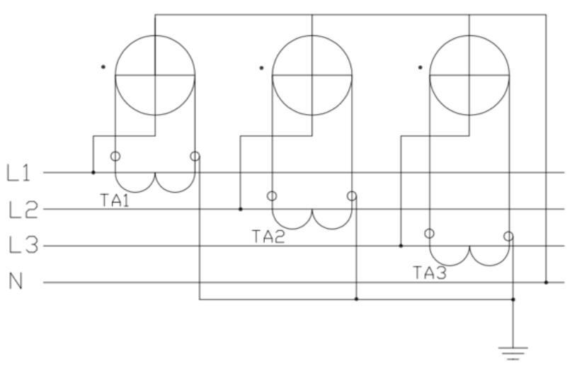 三相电度表互感器接线