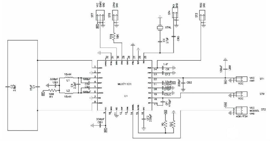 基于MLX71120/21接收�C���F平衡�h天�的�O�