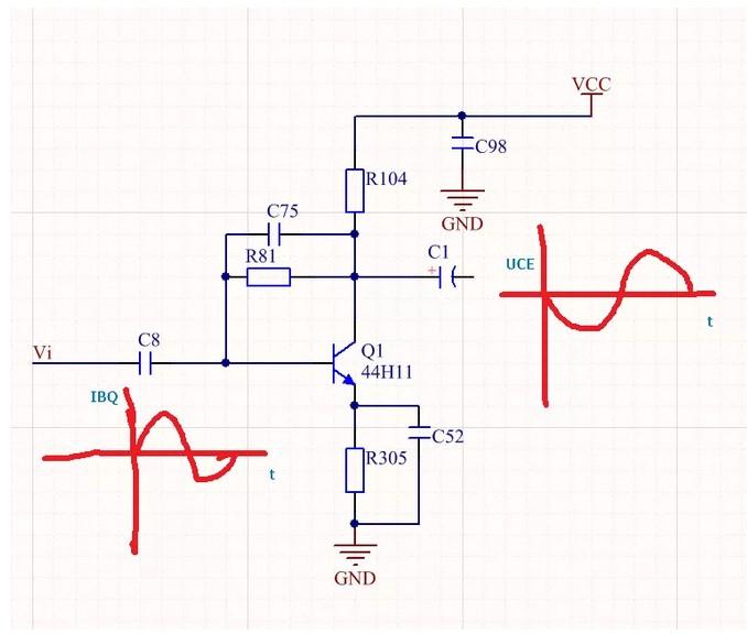 常用的共发射极放大电路的分析