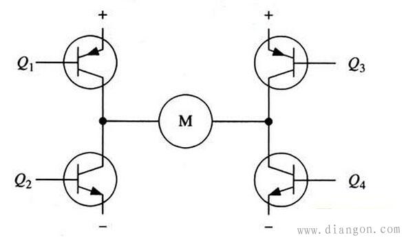 直流电机正反转驱动电路