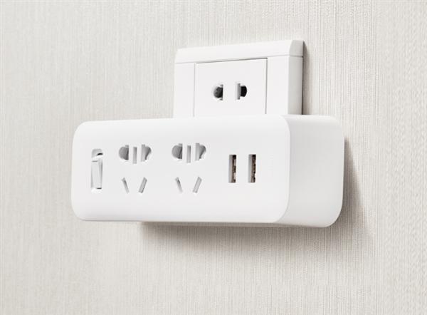 3款米家二位转换器发布:传统墙插变身插线板