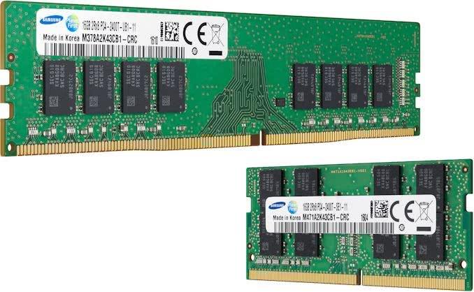 三星32Gb DDR4 A-die内存芯片出样