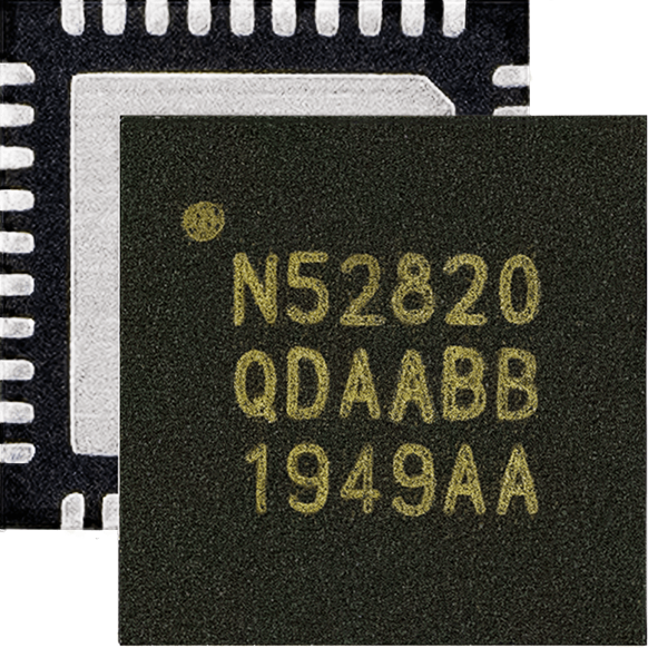 Nordic nRF52820 SoC��nRF52系列低端器件增添全速USB 2.0和�{牙5.2、低功耗�{牙、�{牙 Mesh、Thread和Zigbee支持