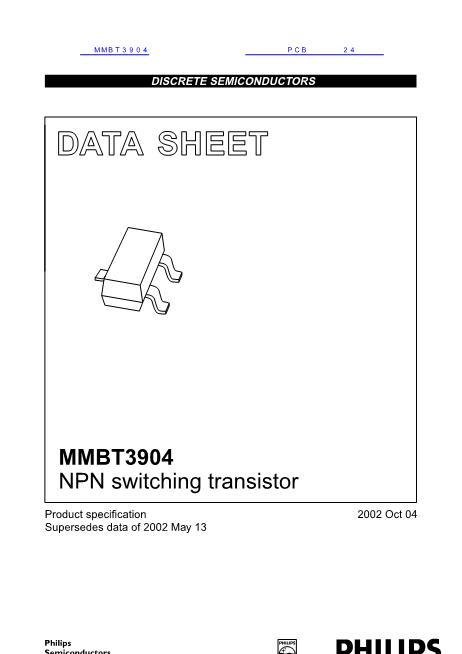 MMBT3904数据手册封面