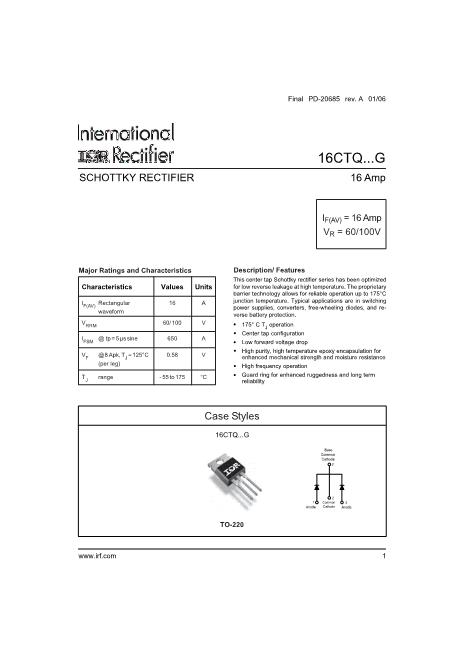 16CTQ080G数据手册封面