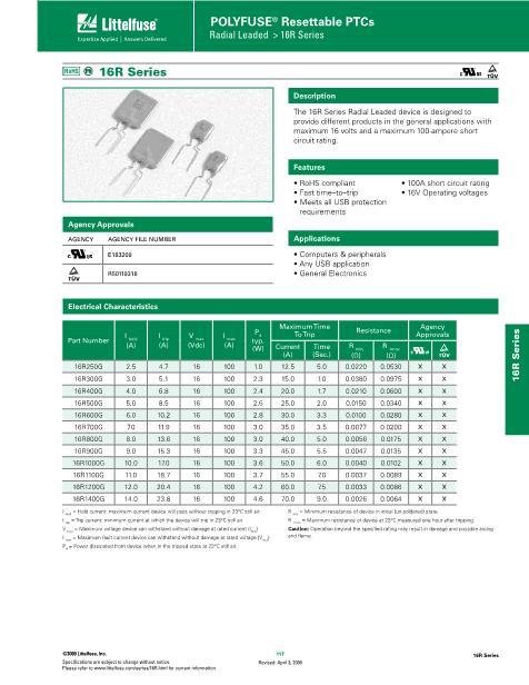 16R1000G数据手册封面