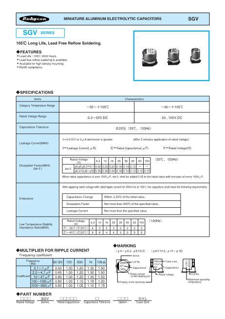 16SGV2200M18X165数据手册封面