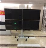 4台32-55寸平板电视移动支架电视机多屏拼接支架铝合金电视架推车