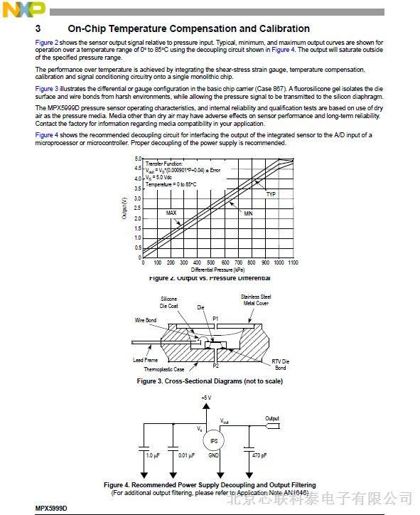 传感器型号可供选择,   mpx10dp用于太阳能热水器和洗衣机的水位控制