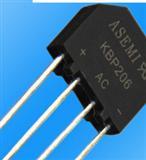 插件桥堆KBP206 2A 600V整流桥堆 DIP-4 ASEMI品牌原装正品