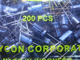 YXA 100UF 50V 20%  红宝石 电解电容 直插  CAP ALUM 100UF 20% 50V RADIAL