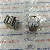 立式AF双层 USB母座 A型接口 180度AF双层立式 直插USB插座
