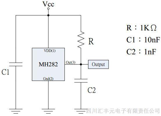 霍尔mh282测试电路图