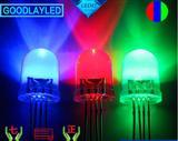 F10RGB全彩led灯珠 10mmRGB四脚全彩发光二极管
