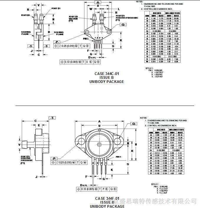 气象报告设备压力传感器mpx21000asx