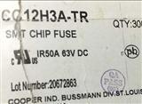 CC12H3A-TR 贴片高温分断保险丝1206 3A 63V 代码 P BUSSMANN厂家可售样品