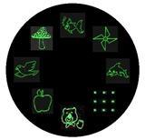 8合一等激光灯光栅镜片随意拼接多图版生产定制光学镜片厂
