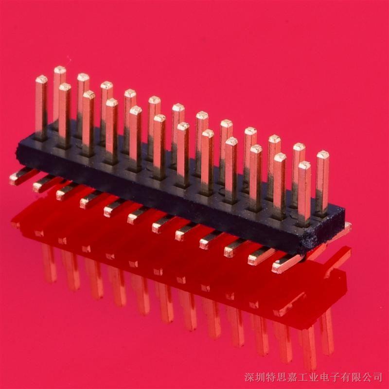 专业端子接插件加工1.27排座SMT 排针传感器双排