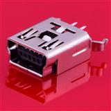 USB连接器 MINI5P母座 全贴 B型 迷你5P母座 MP3 接口