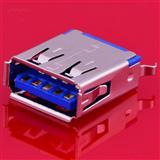 USB正反插/双面插母座 180°插板带固定脚