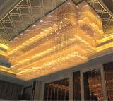 凯伦斯灯饰酒店大堂豪华水晶灯,方形三层大型工程水晶灯
