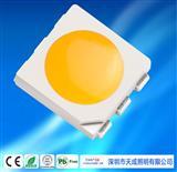 天成照明 三安芯片封装高亮低光衰5050点粉LED黄光 亮化用590-595NM点粉黄光5050LED贴片式发光元器件