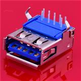 USB插座厂家生产USB公头180度USB连接器 USB插座