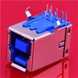 USB连接器 2.0 90度插件 USB连接器 B母 USB接口 厂家直销