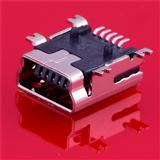 USB-A母座AF全贴片180度SMT耐高温移动电源USB插口现货