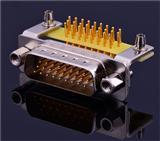 大电流接线连接器 公母连接器 DB26公90°车针插板连接器