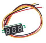 0.28寸超小数字直流电压表头 数显 可调 三线DC0-100V 电瓶电压表