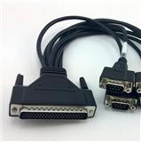 工厂定制工控信号线 HDB62 TO 8个DB9线