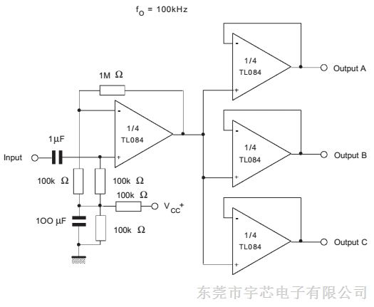 华冠j-fet四运算放大器 tl084 sop-14/dip-14