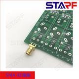全铜镀金SMA-KE,SMA座子,SMA四角偏脚,无线模块电路板RF连接器