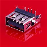 usb短体2.0母头连接器 USB母座90度插板厂家直销