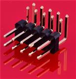 2.54间距双排90度弯插排针 优质排针 规格齐全 排针排母