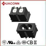 8字插座开关厂家华琴电子huaconn8字型插座 C8插座 八字插座 8字型电源插座 AC插座
