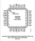 AD8330ACPZ-R7 17+ LFCSP DC至50 MHz、四通道I/Q解调器和移相器【ADI进口原装】