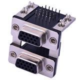 双层VGA,VGA双层,两层VGA插座