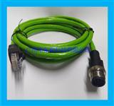 以太网连接线RJ45接头转M12连接器8针插头线直头