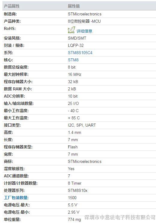 供应原装正品 价格优势STM8S105K6T6C