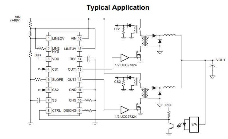 ucc28220dr texas instruments 开关控制器 dual interleaved w/ prog