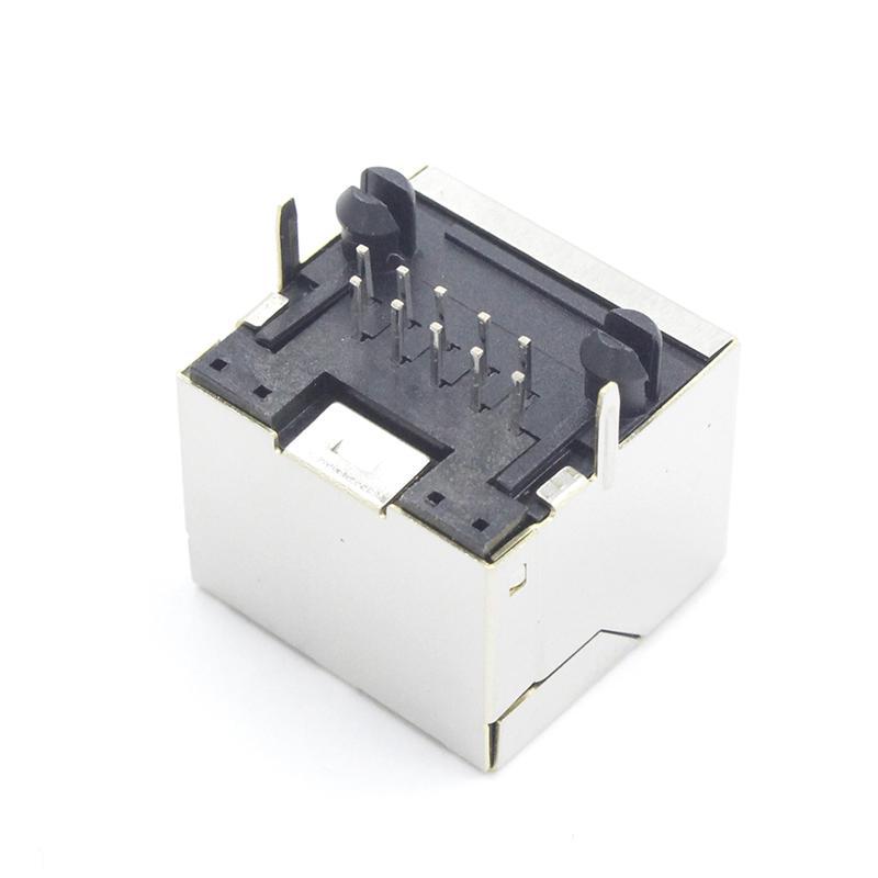 �慰� RJ45�B接器10P10C屏蔽�W�j母座