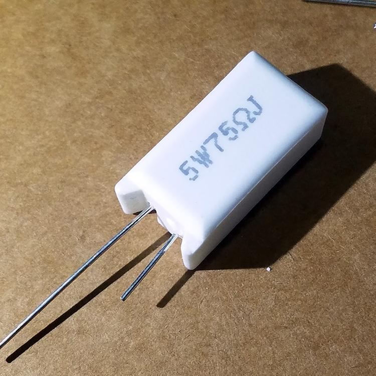 5W 75R水泥电阻立式/卧式直插 RX27-5W 5% 5W75RJ 75欧 其他阻值均有