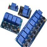 5V12V24V继电器模块1 2 4 6 8路 带光耦隔离 低电平触发开发板XTW